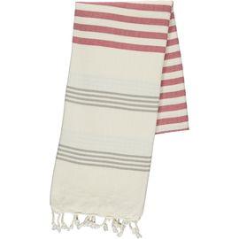 Peshtemal / Towel - Sultan FUN - Taupe / Dusty Rose