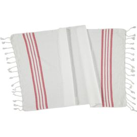 Peshkir - White Sultan / Dusty Rose Stripes