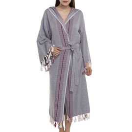 Bathrobe Gocek with hood / Dark Grey