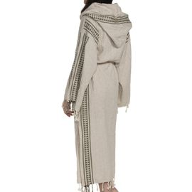 Bathrobe Antik 02 - Khaki Stripes