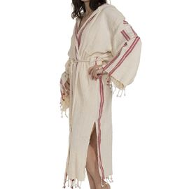 Bathrobe Buse - Bordeaux Stripes
