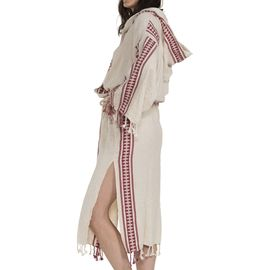Bathrobe Antik 02 - Bordeaux Stripes