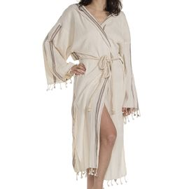 Bathrobe Buse - Brown Stripes