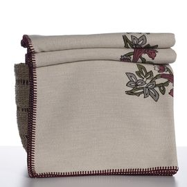 Throw Nevra / Colored Hand Printed - Floral
