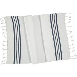 Peshkir - White Sultan / Navy Stripes