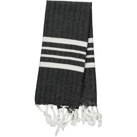 Peshkir Mini / White Sultan - Black (30x50)