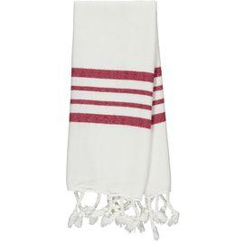 Peshkir Mini / White Sultan - Bordeaux Stripes (30x50)