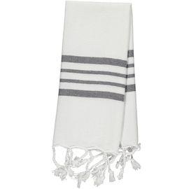 Peshkir Mini / White Sultan - Dark Grey Stripes (30x50)