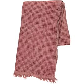 Throw Stone Waffle - Dusty Rose