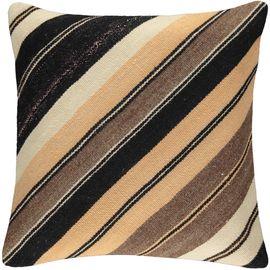Yastık Kılıfı Diagonal - Keten & Pamuk (45x45cm) 010