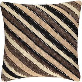 Yastık Kılıfı Diagonal - Keten & Pamuk (45x45cm) 011
