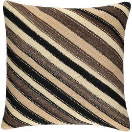 Yastık Kılıfı Diagonal - Keten & Pamuk (45x45cm) 012
