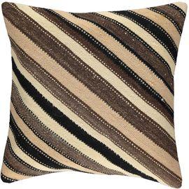 Yastık Kılıfı Diagonal - Keten & Pamuk (45x45cm) 013