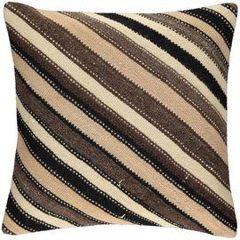 Yastık Kılıfı Diagonal - Keten & Pamuk (45x45cm) 015