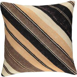 Yastık Kılıfı Diagonal - Keten & Pamuk (45x45cm) 05