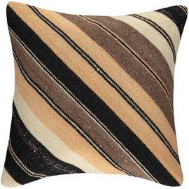 Yastık Kılıfı Diagonal - Keten & Pamuk (45x45cm) 06