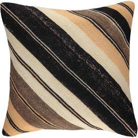 Yastık Kılıfı Diagonal - Keten & Pamuk (45x45cm) 09