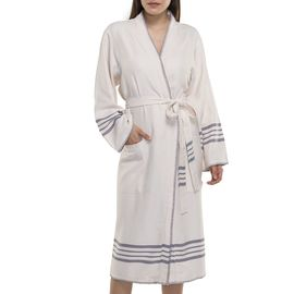 BATHROBE COBAN KS  -  DARK GREY STRIPES