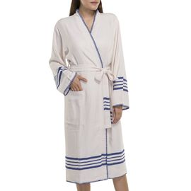 BATHROBE COBAN KS  - ROYAL BLUE STRIPES