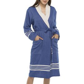 Bathrobe Sultan with towel - Royal Blue