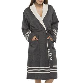 Bathrobe Sultan with towel - Black