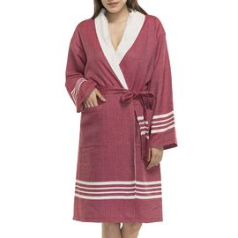 BATHROBE NIL KS - WITH TERRY / BORDEAUX