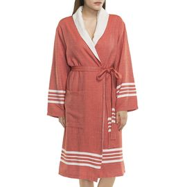 BATHROBE NIL KS - WITH TERRY / BRICK