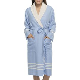 Bathrobe Sultan with terry - Blue