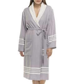Bathrobe Sultan with towel - Light Grey