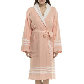 Bathrobe Sultan with towel - Melon