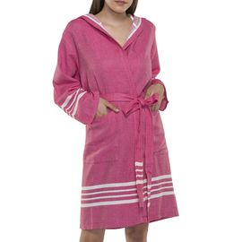 Bathrobe Sultan with hood - Fucshia