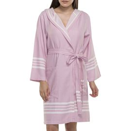 Bathrobe Sultan with hood - Rose Pink