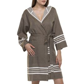 Bathrobe Sultan with hood - Khaki