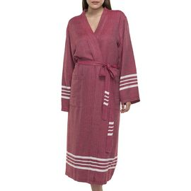 Bathrobe Sultan kimono collar - Bordeaux