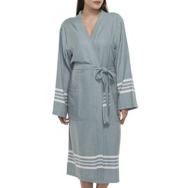 Bathrobe Sultan kimono collar - Almond Green