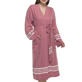 Bathrobe Sultan kimono collar - Dusty Rose