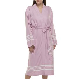 Bathrobe Sultan kimono collar - Rose Pink