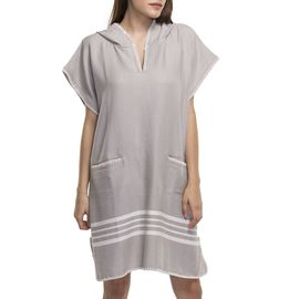 PONCHO KREM SULTAN / LIGHT GREY
