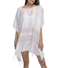Tunic / Dress Silk - Taupe Stripes