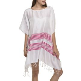 Tunic / Dress Silk - Fucshia Stripes