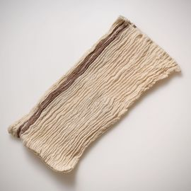 LOOFAH BUSE - SILK AND LINEN BLENDED VERTICAL BROWN STRIPES