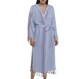 Bathrobe Gocek with hood  / Blue