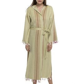 Bathrobe Gocek with hood  - Green