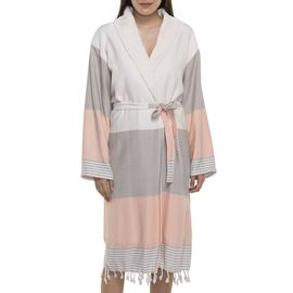 BATHROBE KSC3   /  TAUPE - MELON