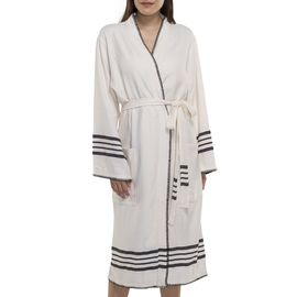 BATHROBE COBAN KS - BLACK STRIPES