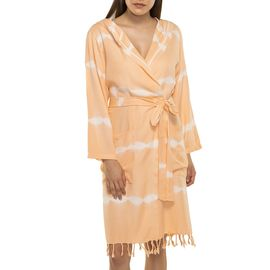 Bathrobe Tie Dye with hood - Melon Base