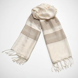 Scarf Silk CZ - Taupe Stripes