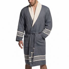 Bathrobe Sultan with towel - Navy