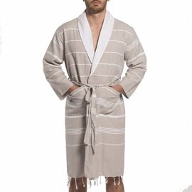 Bathrobe Leyla / With Towel Lining - Taupe