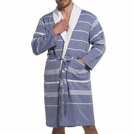 Bathrobe Leyla / With Towel Lining - Royal Blue